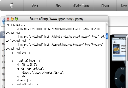 css conditional statement apple