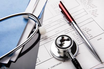 Medical Records & Stethoscope