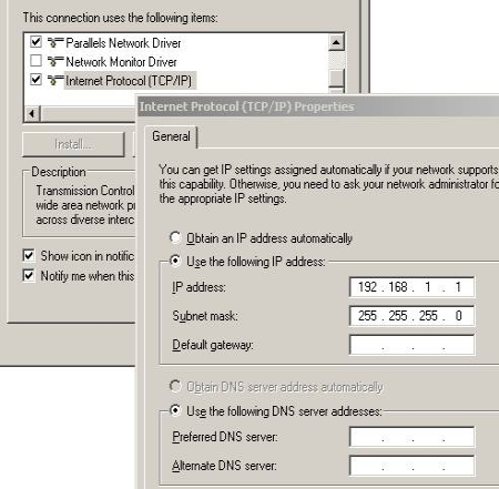 microsoft loopback adapter ip screenshot