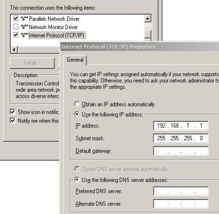 microsoft loopback adapter ip screenshot