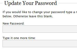 wordpress user password screenshot