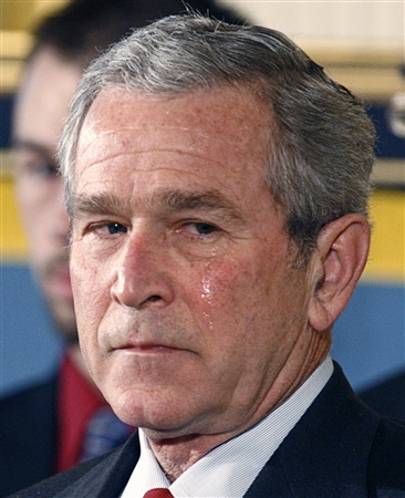 george w.bush in tears