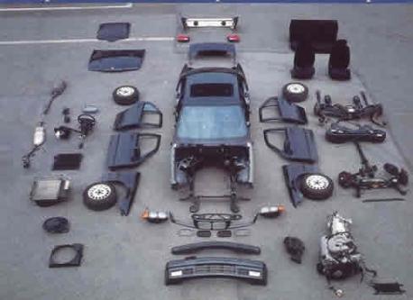 wrecker car reusable auto parts