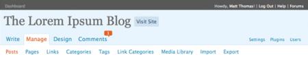 wordpress navigation menu