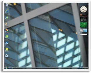 windows vxp sidebar vista gadget