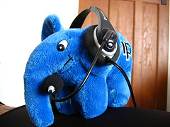 php elephphant with headphone