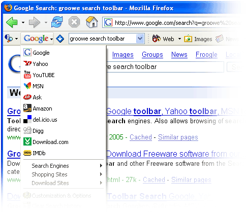 groowe toolbar utilities for firefox and internet explorer