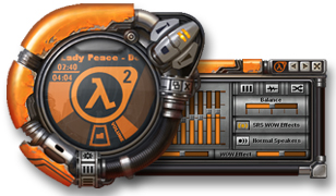 half life 2 skin for windows media player