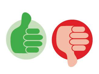 review thumbs up down logo icon
