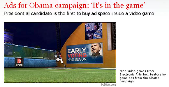 obama campaigns in ea games