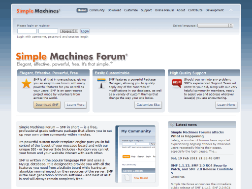 simple machines forums smf