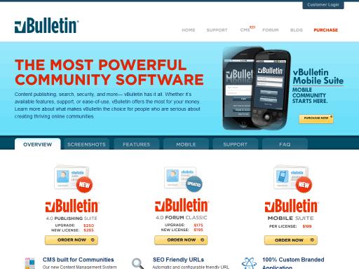 Compare Forums Software: VBulletin, IPB, PHPBB, SMF, Vanilla