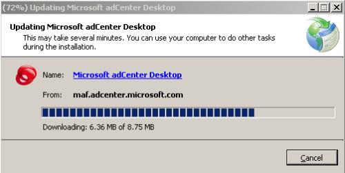 updating microsoft adcenter desktop client