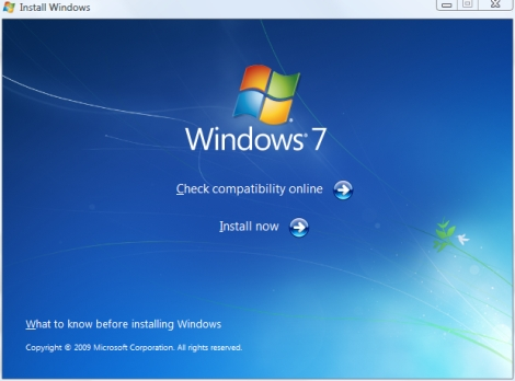 windows 7 installer setup screenshot