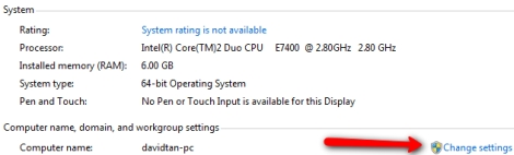 windows 7 system properties settings