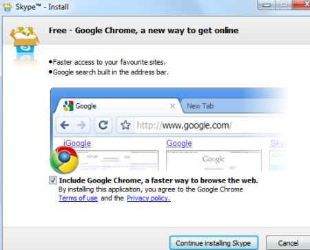skype chrome install