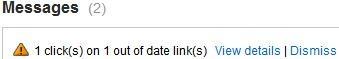google affiliate network invalid links report