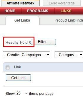 linkshare links no results