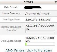 anhosting midphase cpanel web statistics error
