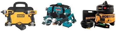 power tools combo packs kits