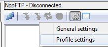 notepad plus nppftp plugin settings