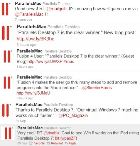 parallels desktop mac tweets
