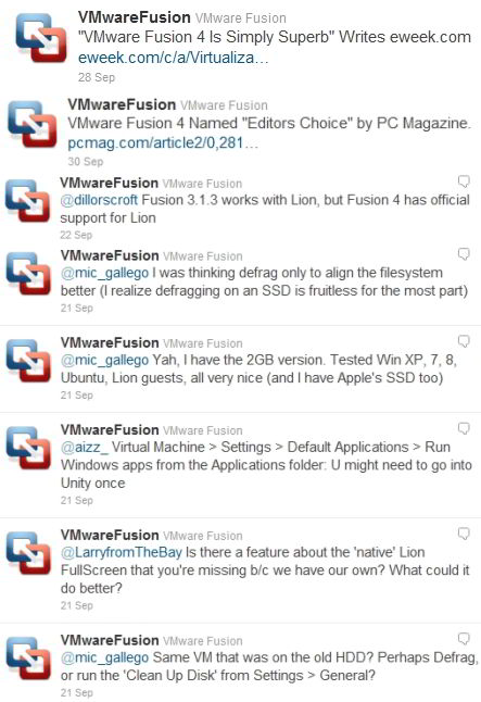 vmware fusion mac tweets