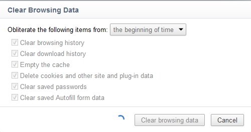 clear chrome browsing cache history